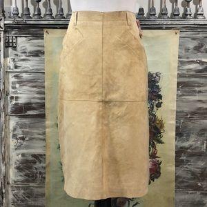 Isaac Mizrahi (for Target) leather skirt, Sz 4